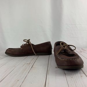 Old Navy men's brown loafers with lace ties 10